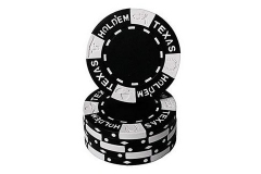 Texas Holdem Clay Black (25 kpl)